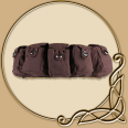 LARP Accessories -5 Bag Utility Belt ' Borchard'